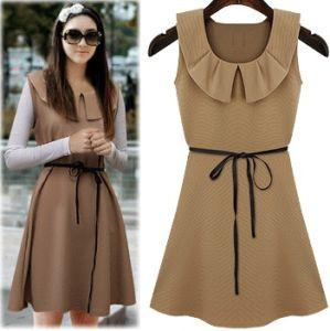 China 2014 Designs Ladies Smart Chiffon Korean Style Casual Dress ...