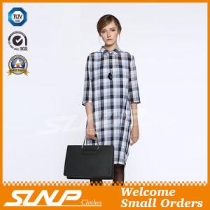 Women′s Cotton Plaid Half Sleeve Flannel Clothes