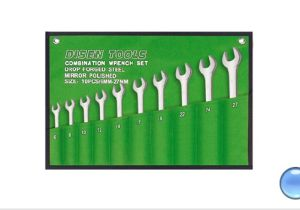 10PCS Mirror Finish Combination Wrench Set