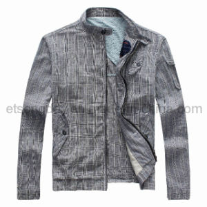 Gray Colthing Linen Cotton Men′s Casuall Jacket (GH1308) pictures & photos