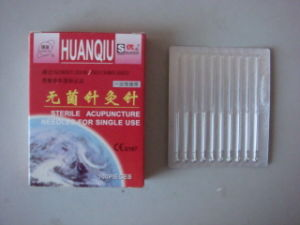 0.22X40mm Acupuncture Needle Without Tube, Silver/Copperr Handle - Huanqiu Brand pictures & photos