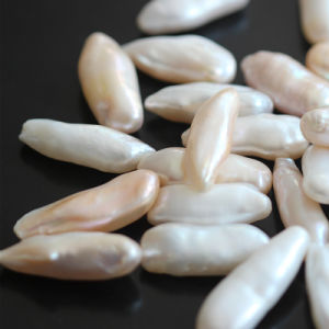 Long Irregular Baroque Shape Natural Pearl Beads, Aaaa Top Quality pictures & photos