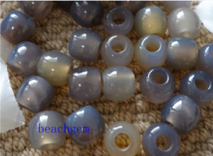 Jewelry Parts-Gray Agate Loose Beads pictures & photos