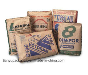 50kgs Valve Bag Kraft Paper for Cement Sand Talcum Powder pictures & photos