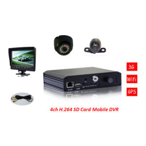 Cheap H. 264 SD Card 4CH Mini Mobile DVR for Taxi Security pictures & photos