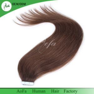 No Tangle No Shedding Brazilian Hair Virgin Hair Wholesale Tape in Human Hair Extension pictures & photos
