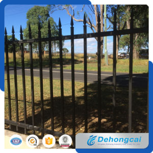 Black Coated Ornamental Wrought Iron Fence pictures & photos