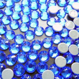 Hot Fix Crystals Wholesale Crystal Beads Flat Back Ss16 Sapphire pictures & photos