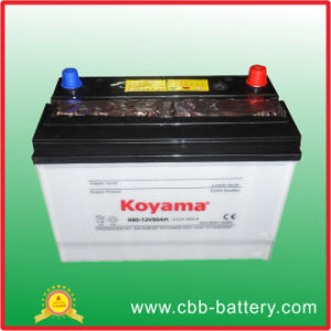 Dry Charged Auto Battery, JIS Standard N80 pictures & photos