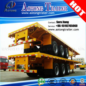 40ft Tri-Axle Platform/Flatbed/Flat Top Semi Trailer (LAT9390P) pictures & photos
