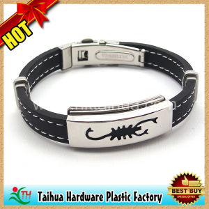 Fashion Metal Silicone Bracelet with Chram (TH-mt015) pictures & photos