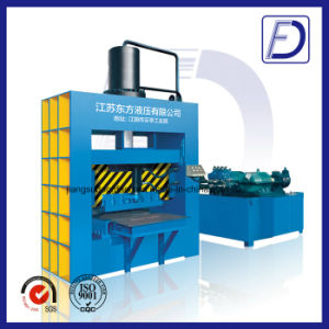 Hydraulic Guillotine Cutting Waste Tyre Recycling Machine pictures & photos