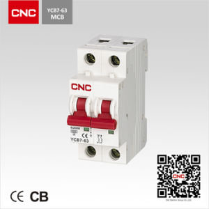Ycb7 6ka 2p MCB Circuit Breaker Isolating Switch (C7 Series) (CB7-63 2p) pictures & photos