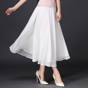 Plain All-Match Cotton&Linen Simple Full Skirt pictures & photos