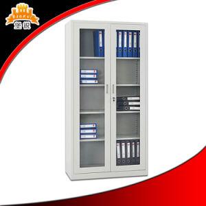 2 Door Glass Door Steel Cabinet for Office and Home pictures & photos