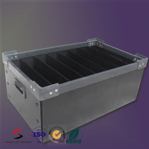 Plastic Tote with Divider Antistatic PP Turnover Box pictures & photos