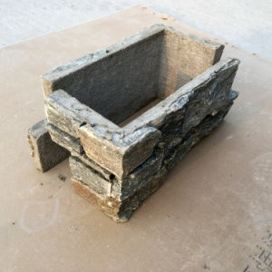 China Natural Sesame Yellow Cement Culture Stone pictures & photos