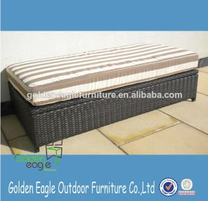 Outdoor Elegant Design PE Rattan Seat Storage Box B0006