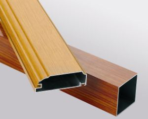 Wood Texture Aluminum Profile pictures & photos