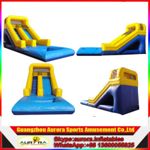 New Finished Yellow Color Inflatable Water Slide Adult on Sale