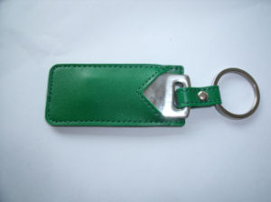 New! Key Shape USB Drive with Keychain and Leather Case Packing pictures & photos