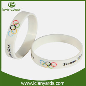 Screen Printed Silicone Gift Wristband for Sport Festival pictures & photos