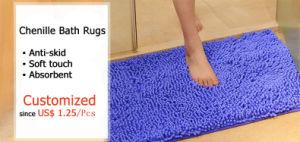 Area Microfiber Polyester Chenille Door Bath Shower Floor Kitchen Mat pictures & photos