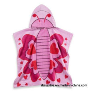 Cotton Kids Printed Beach Poncho Bath Poncho with High Quality pictures & photos