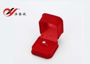 Square Red or Plum Velvet Jewelry Box Set pictures & photos