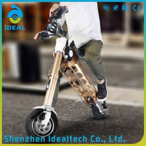 Portable Customized Gold Electric Folded Mobility Scooter pictures & photos