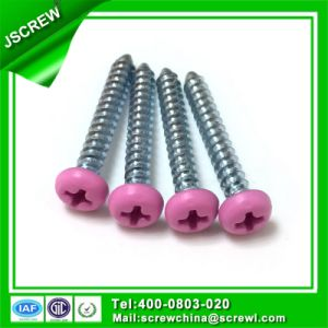 Decorative Pink Painted Head Zinc Plated Coach Bolts M4 pictures & photos