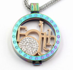 Rainbow Color 361L Surgical Stainless Steel Floating Locket Pendant pictures & photos