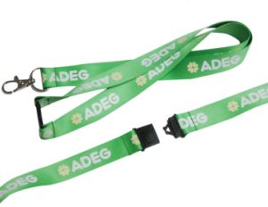 Silkscreen Printing Lanyards with Metal Hook (LY-003) pictures & photos