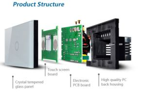 Factory Supply Superior Quality Household WiFi Touch Wall Switch From Manufacturer pictures & photos