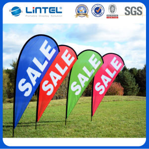 Outdoor Hot Sale Strong Pole Beach Flying Flag Banner (LT-17C) pictures & photos