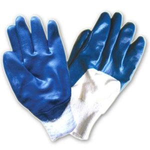 China Factory Labor Professional Half Cotted PVC Red/Blue Gloves pictures & photos