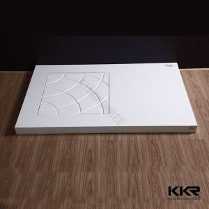 Artificial Stone White Solid Surface Shower Tray pictures & photos