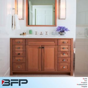 American Red Oak Retro Style Vanity for Bathroom pictures & photos