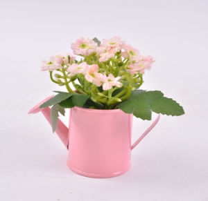 Artificial Wildflowers in Iron Pots for Decoration