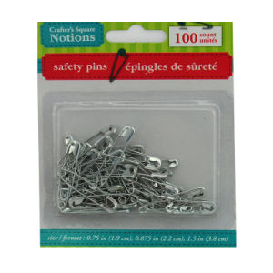 Safety Pins 100PCS Differents Size Assorted