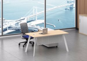 White Customized Metal Steel Office Staff Desk Frame with Ht79-1 pictures & photos