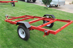 2017 4X8 Red Folding Trailer /Utility Trailer /Foldable Trailer pictures & photos