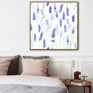 Lavender Flowers Oil Painting Art Print pictures & photos