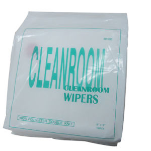 "9""*9"" High Absorbency Cleanroom Microfiber Wipes pictures & photos"