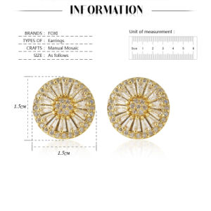 Dubai Gold Jewelry Earring 18k Gold pictures & photos