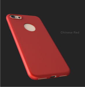 Red Color Plastic PC Mobile Phone Case for iPhone pictures & photos