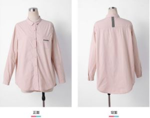 Spring Water Pink Long Sleeve Plain Ladies Shirt pictures & photos