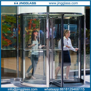Flat Curved Bent Revolving Door Tempered Glass pictures & photos