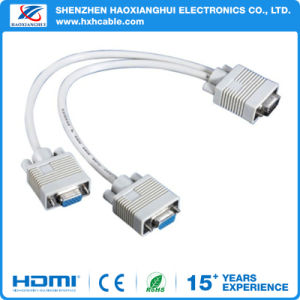 20cm Male to 2 Female VGA Cable 1080P/4k for Computer pictures & photos