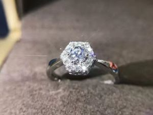 Hexagon Silver Ring with Cubic Zircon pictures & photos